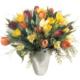 Tulpenstrauss gemischt mit farbigen Tulpen und feines Beiwerk